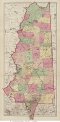 Coos County, New Hampshire 1877 Old Map Reprint - Comstock & Cline State Atlas