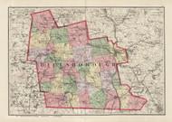 Hillsboro County, New Hampshire 1877 Old Map Reprint - Comstock & Cline State Atlas