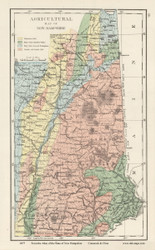New Hampshire Agricultural Map - 1877 Old Map Reprint - Comstock & Cline State Atlas of NH