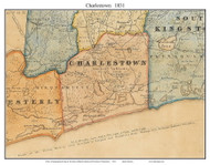 Charlestown, Rhode Island 1831 - Old Town Map Custom Print - 1831 State
