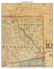 Cumberland, Rhode Island 1831 - Old Town Map Custom Print - 1831 State