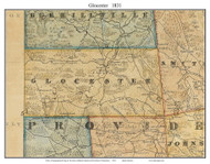 Glocester, Rhode Island 1831 - Old Town Map Custom Print - 1831 State