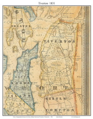 Tiverton, Rhode Island 1831 - Old Town Map Custom Print - 1831 State