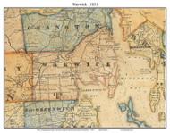 Warwick, Rhode Island 1831 - Old Town Map Custom Print - 1831 State