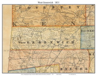 West Greenwich, Rhode Island 1831 - Old Town Map Custom Print - 1831 State