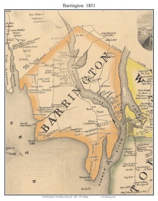 Barrington, Rhode Island 1851 - Old Town Map Custom Print - Providence on map of west warwick ri, map of wakefield ri, map of cranston ri, map of american fork ut, map of ri towns, map of east greenwich ri, map of narragansett bay ri, map of east bay bike path ri, map of pawtucket ri, map of arnoldsburg wv, map of south providence ri, map of browning mt, map of woonsocket ri, map of shannock ri, map of adamsville ri, map of davisville ri, map of spring lake ri, map of south kingstown ri, map of block island ri, map of north kingstown ri,