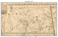Burrillville, Rhode Island 1851 - Old Town Map Custom Print - Providence Co.