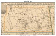 Burrillville, Rhode Island 1851 - Old Town Map Custom Print - Providence Co.