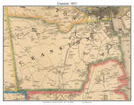 Cranston, Rhode Island 1851 - Old Town Map Custom Print - Providence Co.