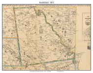 Smithfield, Rhode Island 1851 - Old Town Map Custom Print - Providence Co.
