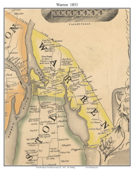 Warren, Rhode Island 1851 - Old Town Map Custom Print - Providence on map of west warwick ri, map of wakefield ri, map of cranston ri, map of american fork ut, map of ri towns, map of east greenwich ri, map of narragansett bay ri, map of east bay bike path ri, map of pawtucket ri, map of arnoldsburg wv, map of south providence ri, map of browning mt, map of woonsocket ri, map of shannock ri, map of adamsville ri, map of davisville ri, map of spring lake ri, map of south kingstown ri, map of block island ri, map of north kingstown ri,