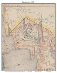 Barrington, Rhode Island 1855 - Old Town Map Custom Print - 1855 State
