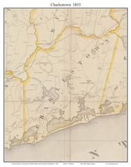 Charlestown, Rhode Island 1855 - Old Town Map Custom Print - 1855 State