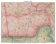 Cranston, Rhode Island 1855 - Old Town Map Custom Print - 1855 State