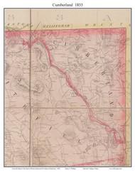 Cumberland, Rhode Island 1855 - Old Town Map Custom Print - 1855 State