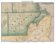 East Greenwich, Rhode Island 1855 - Old Town Map Custom Print - 1855 State