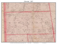 Glocester, Rhode Island 1855 - Old Town Map Custom Print - 1855 State