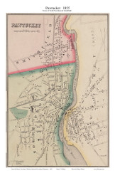 North Providence Pawtucket, Rhode Island 1855 - Old Town Map Custom Print - 1855 State