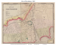 Providence City, Rhode Island 1855 - Old Town Map Custom Print - 1855 State