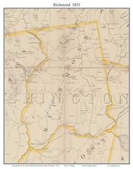 Richmond, Rhode Island 1855 - Old Town Map Custom Print - 1855 State
