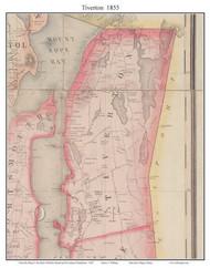 Tiverton, Rhode Island 1855 - Old Town Map Custom Print - 1855 State