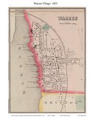 Warren Village, Rhode Island 1855 - Old Town Map Custom Print - 1855 State