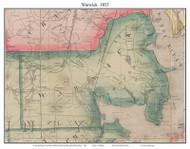 Warwick, Rhode Island 1855 - Old Town Map Custom Print - 1855 State