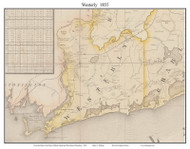 Westerly, Rhode Island 1855 - Old Town Map Custom Print - 1855 State
