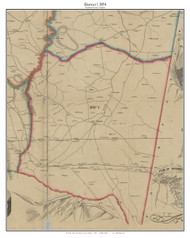 District 1 - Loudoun County, Virginia 1854 Old Town Map Custom Print - Loudoun Co.