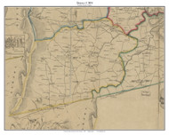 District 3 (Bloomfield) - Loudoun County, Virginia 1854 Old Town Map Custom Print - Loudoun Co.