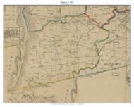 District 3 (Bloomfield) - Loudoun County, Virginia 1854 Old Town Map Custom Print - Loudoun Co.