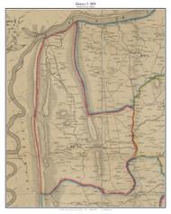 District 5 (Hillsboro) - Loudoun County, Virginia 1854 Old Town Map Custom Print - Loudoun Co.