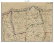 District 6 (Lovettsville) - Loudoun County, Virginia 1854 Old Town Map Custom Print - Loudoun Co.