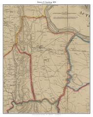 District 8 (Leesburg) - Loudoun County, Virginia 1854 Old Town Map Custom Print - Loudoun Co.