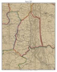 District 9 - Loudoun County, Virginia 1854 Old Town Map Custom Print - Loudoun Co.