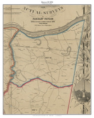 District 10 - Loudoun County, Virginia 1854 Old Town Map Custom Print - Loudoun Co.