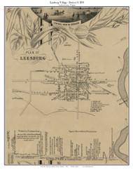 Leesburg Village - Loudoun County, Virginia 1854 Old Town Map Custom Print - Loudoun Co.