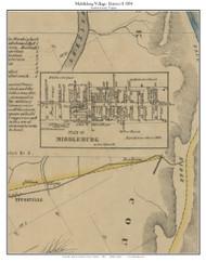 Middleburg Village - Loudoun County, Virginia 1854 Old Town Map Custom Print - Loudoun Co.