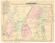 Addison, Vermont 1871 Old Town Map Reprint - Addison Co.
