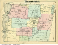 Bridport, Vermont 1871 Old Town Map Reprint - Addison Co.