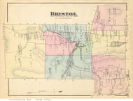 Bristol, Vermont 1871 Old Town Map Reprint - Addison Co.