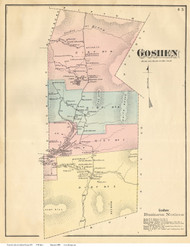 Goshen, Vermont 1871 Old Town Map Reprint - Addison Co.