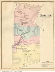 Goshen, Vermont 1871 Old Town Map Reprint - Addison Co.