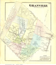 Granville, Vermont 1871 Old Town Map Reprint - Addison Co.