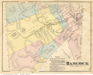 Hancock, Vermont 1871 Old Town Map Reprint - Addison Co.