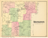Monkton, Vermont 1871 Old Town Map Reprint - Addison Co.