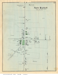 New Haven Village, Vermont 1871 Old Town Map Reprint - Addison Co.
