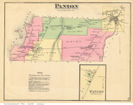 Panton and Panton Village, Vermont 1871 Old Town Map Reprint - Addison Co.