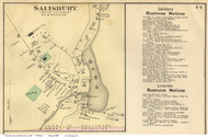 Salisbury Village, Vermont 1871 Old Town Map Reprint - Addison Co.