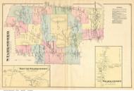 Starksboro Town, Starksboro and South Starksboro Villages, Vermont 1871 Old Town Map Reprint - Addison Co.